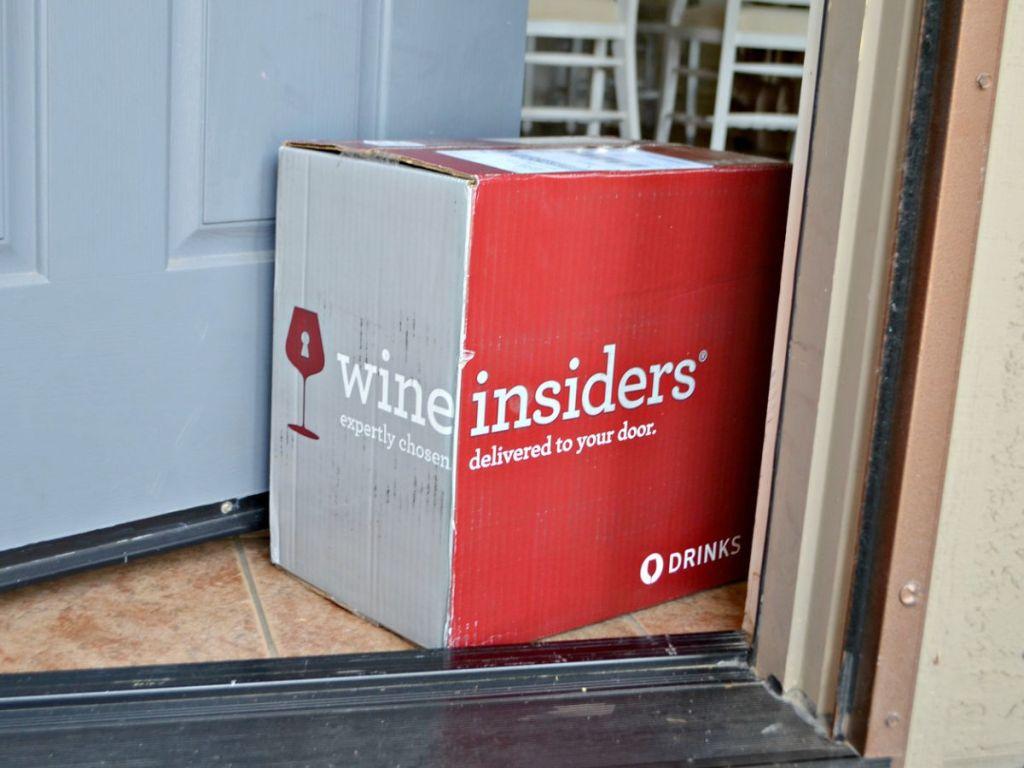 Wine insiders box at door