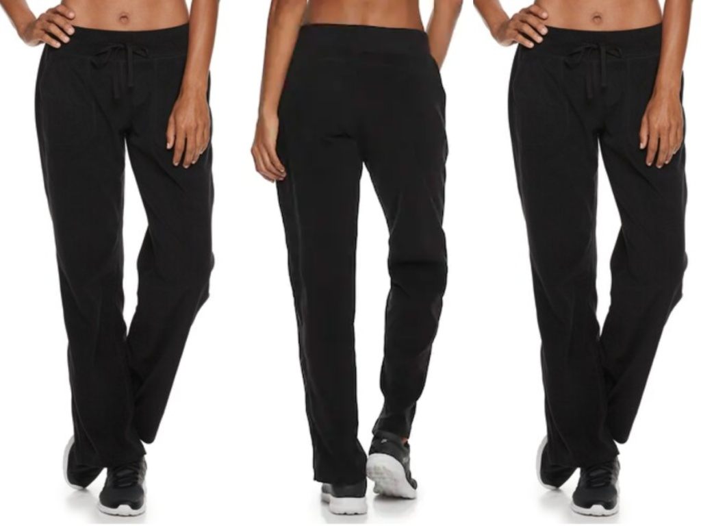 black pair of Women's Tek Gear Microfleece Pants