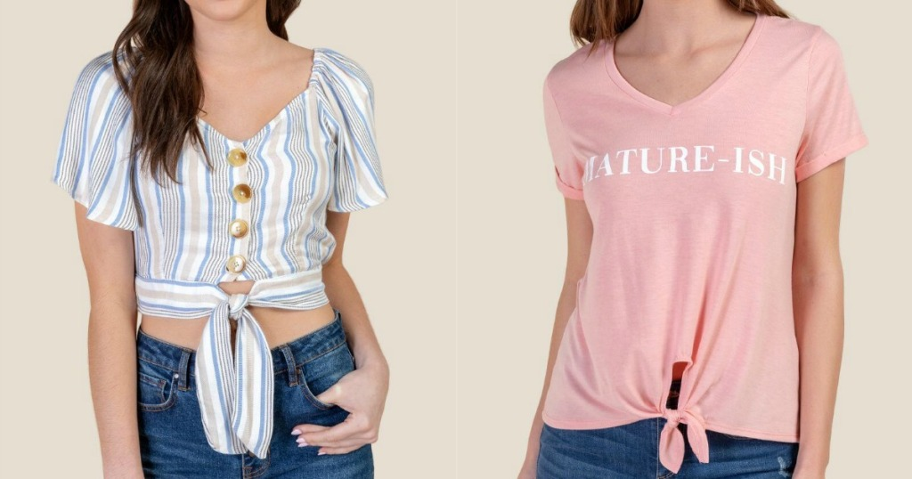 Models wearing Women's Tops from Francesca