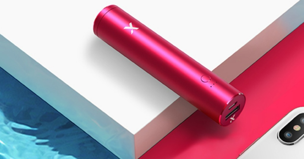 pink portable phone charger