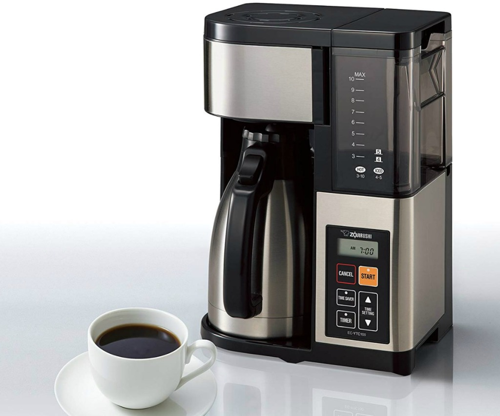 Zojirushi Coffee Maker with coffee mug