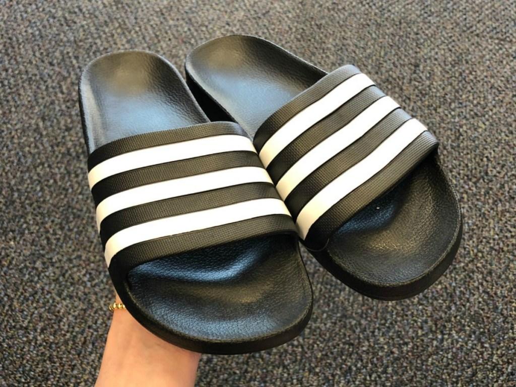 adidas brand men's slides