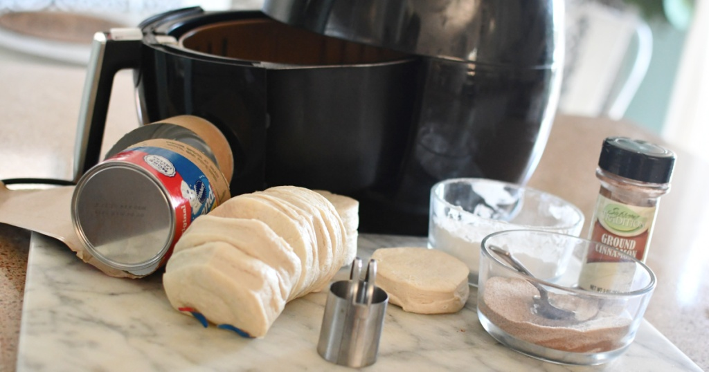 air fryer donuts ingredients from biscuits