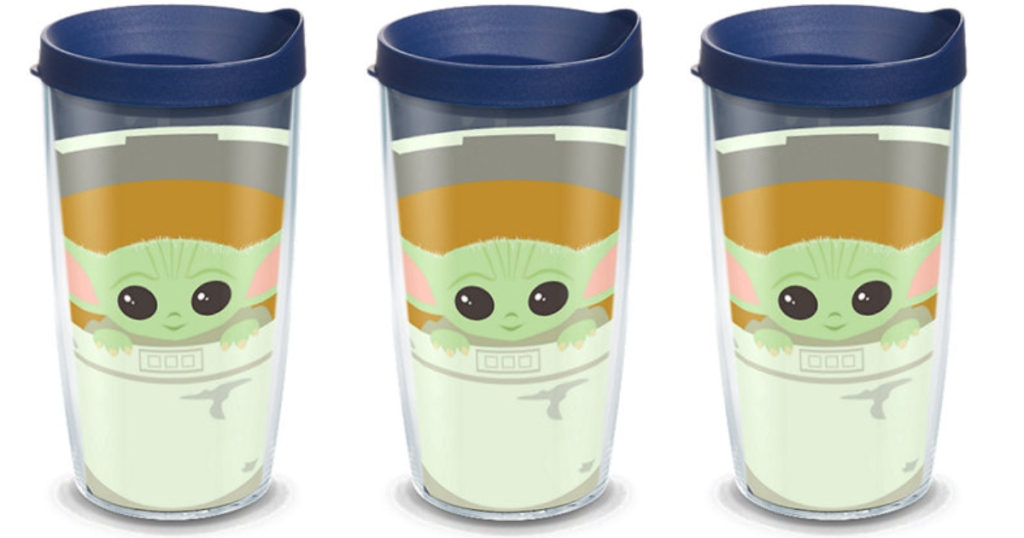 3 Tervis tumblers featuring Baby Yoda