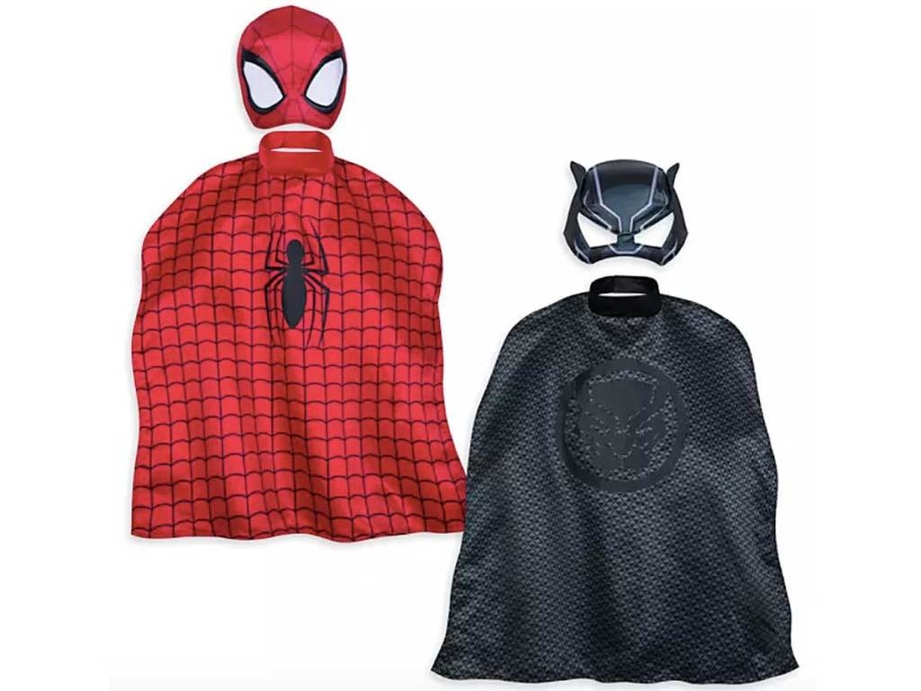spider man and black panther mask and cape set
