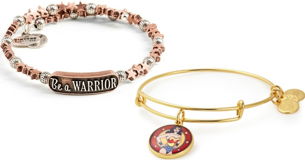 be a warrior and Wonder Woman Bangle