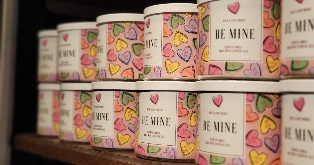Be Mine candles at Bath & Body Works