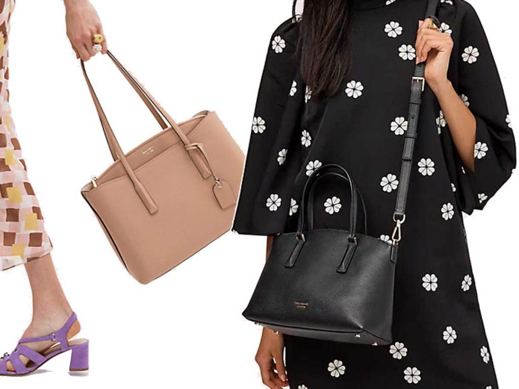 kate spade abbott purses on models