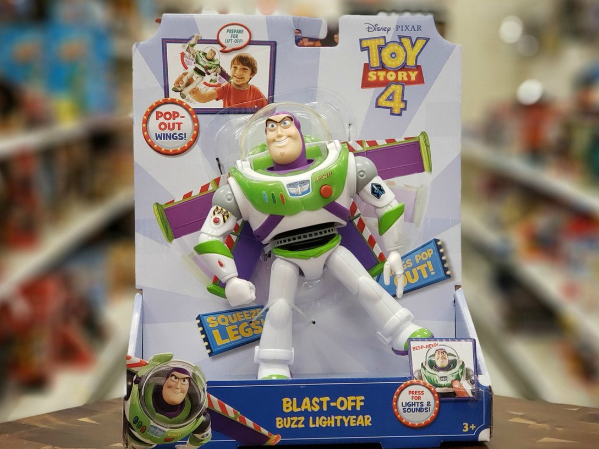 Disney Toy Story movie toy in store by display