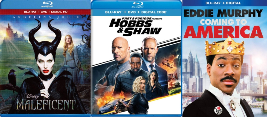 malificent, fast and furious hobbs & shaw, coming to america movies