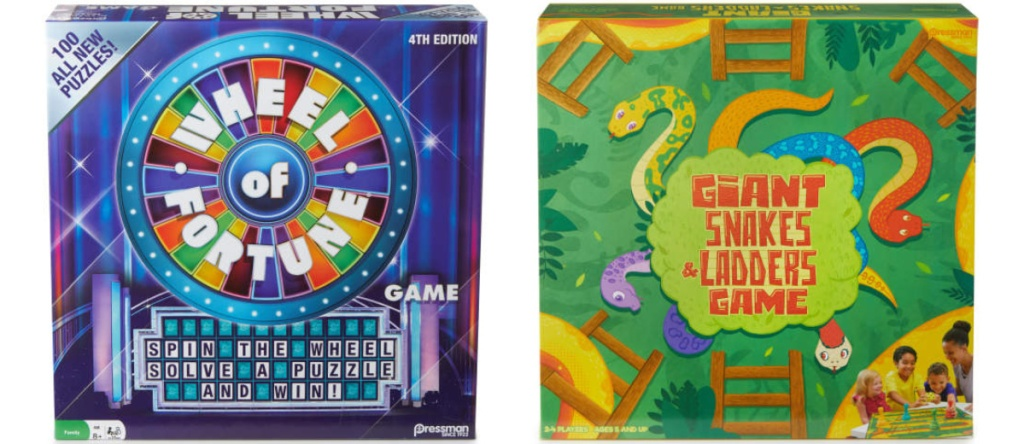wheel of fortune and giant snakes game