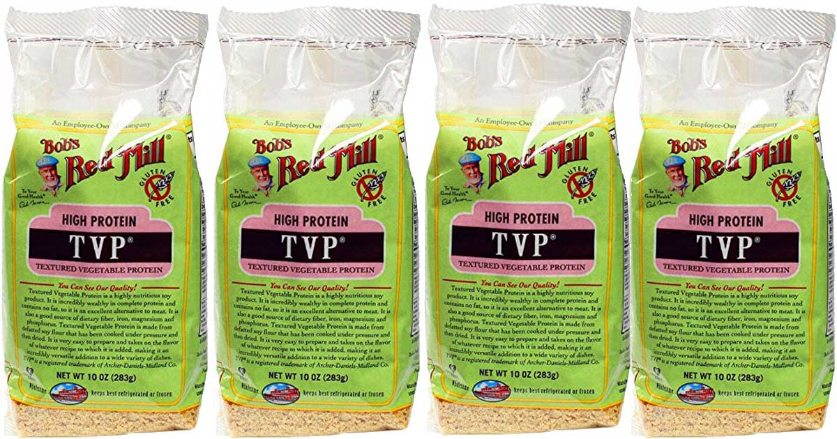 stock image of 4-Pack of Bob's Red Mill TVP (Textured Vegetable Protein