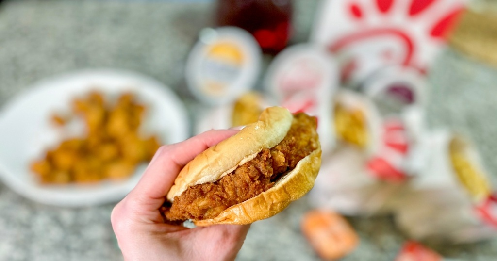Chick-fil-A sandwich and sides