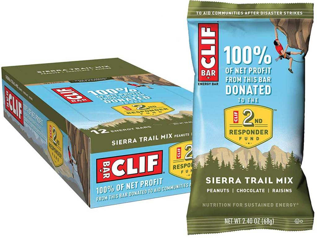 stock image of Clif Bar 12 pack of Sierra Trail Mix Energy Bars
