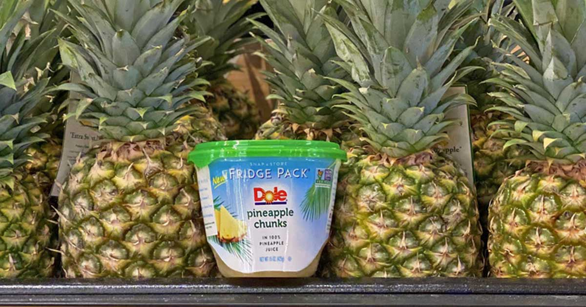 New Dole Pineapple Chunks Fridge Pack at Target in pineapples