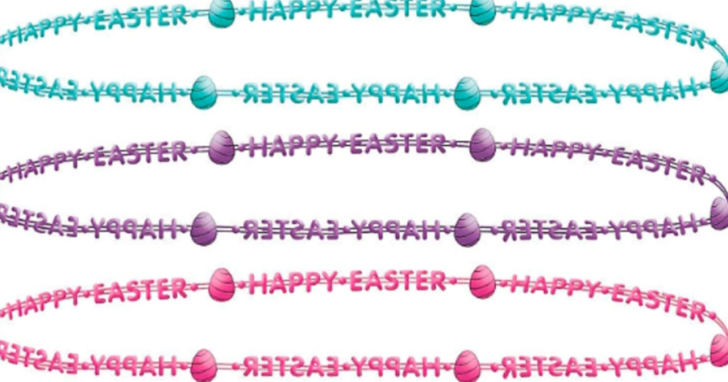 green purple and pink easter necklaces