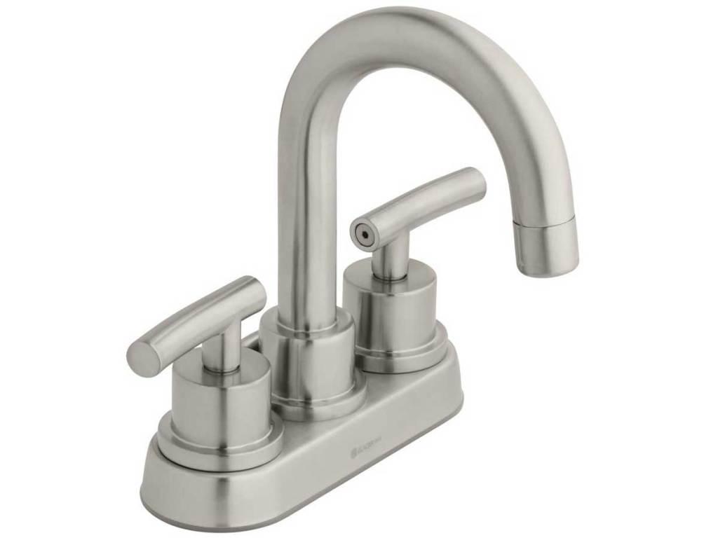 stock image of Dorset Centerset 2-Handle Bathroom Faucet in Brushed Nickel