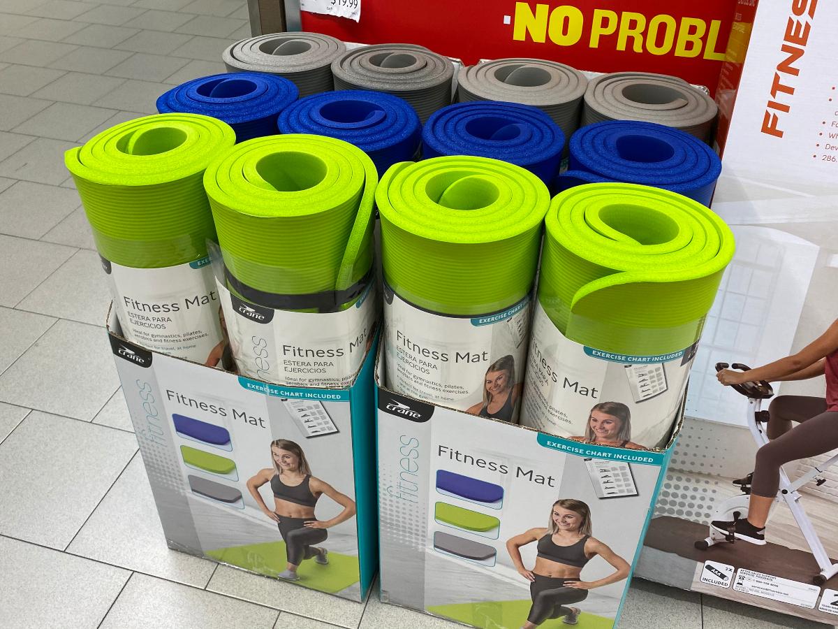 fitness mats at ALDI