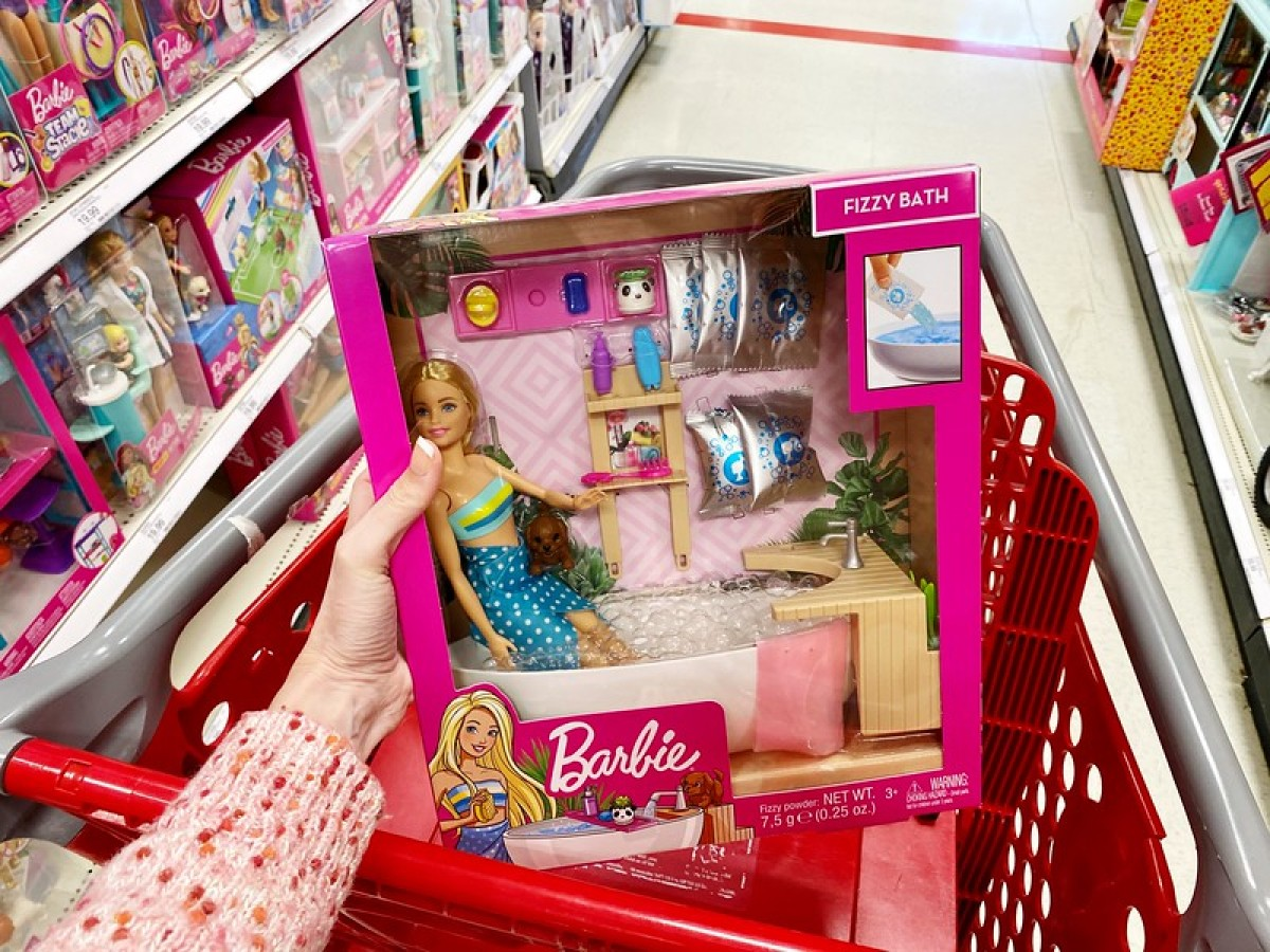 Fizzy bath Barbie doll at Target