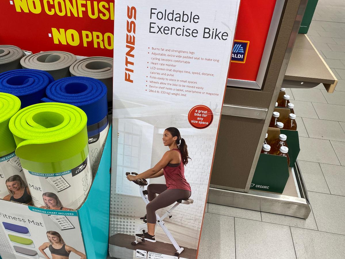 Foldable exercise bike at ALDI