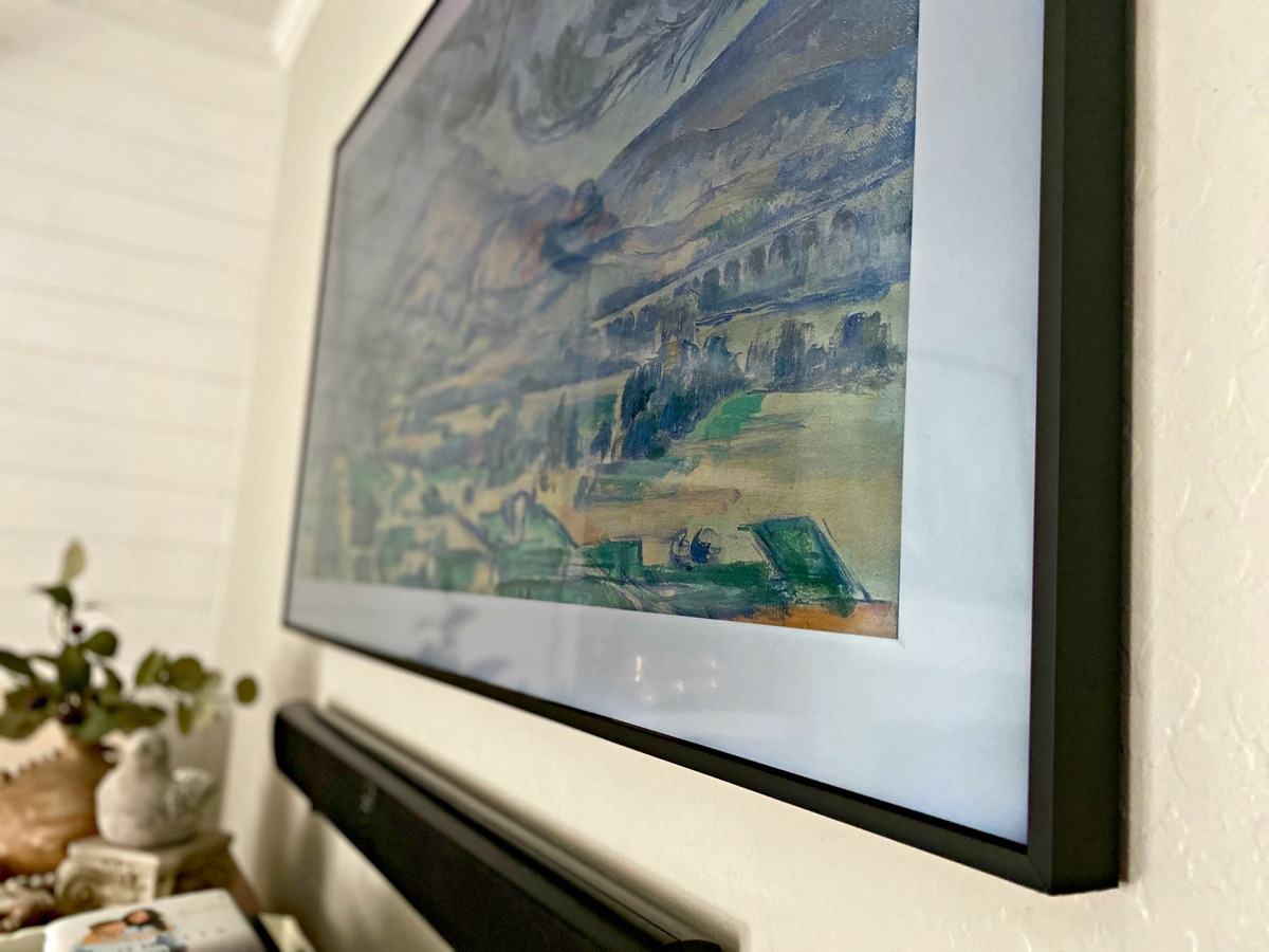samsung frame tv up close