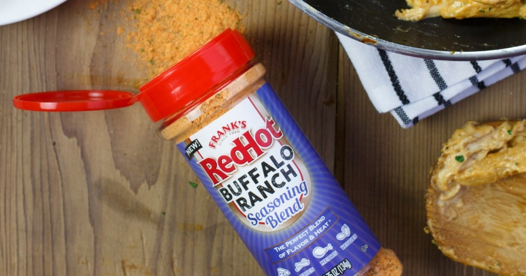 Frank's RedHot Buffalo Ranch Seasoning spilled on counter
