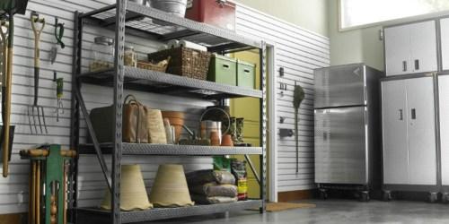 Gladiator 4-Shelf Steel Garage Unit ONLY $137.99 (Regularly $230) – Holds 2,000 Pounds Per Shelf