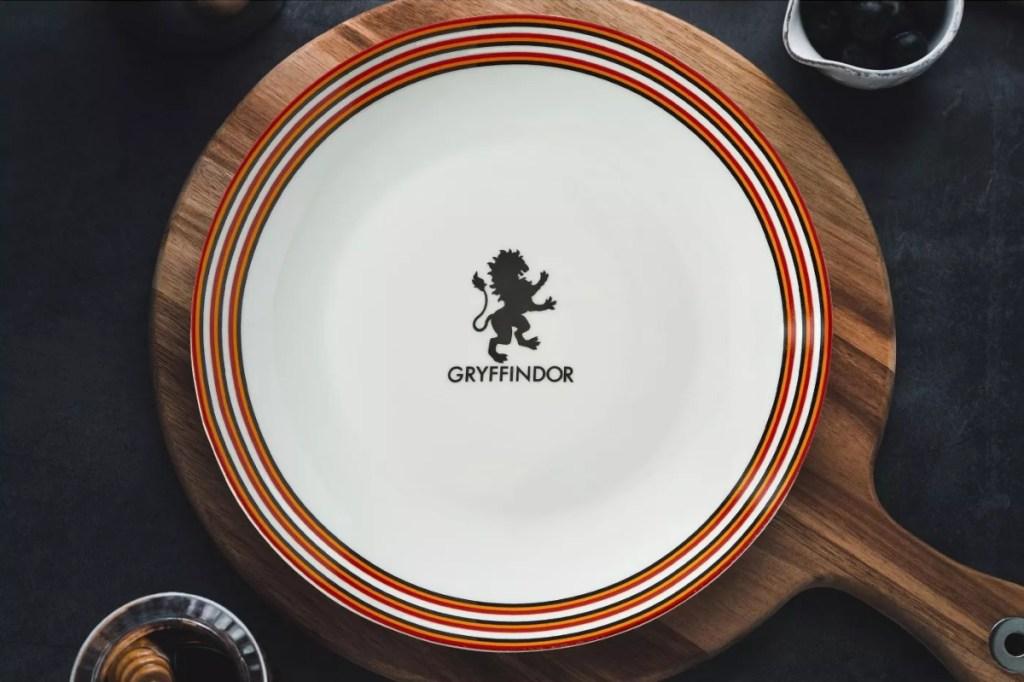 Gryffindor Plate on wooden trivet