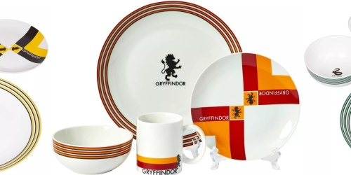 Target Is Selling 16-Piece Harry Potter Dish Sets | All 4 Hogwarts Houses Available