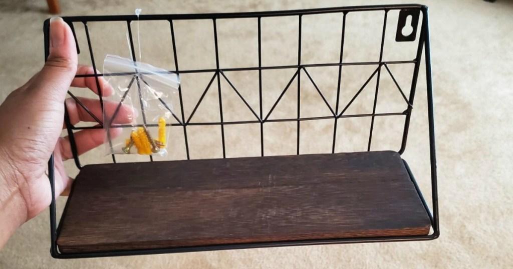 holding wall mounted floating shelf