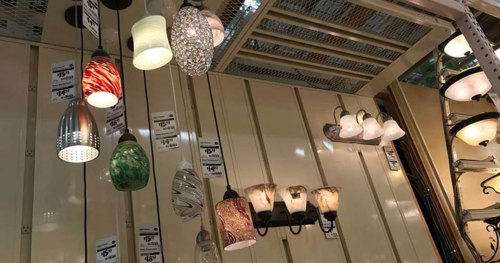 pendant lighting inside a store