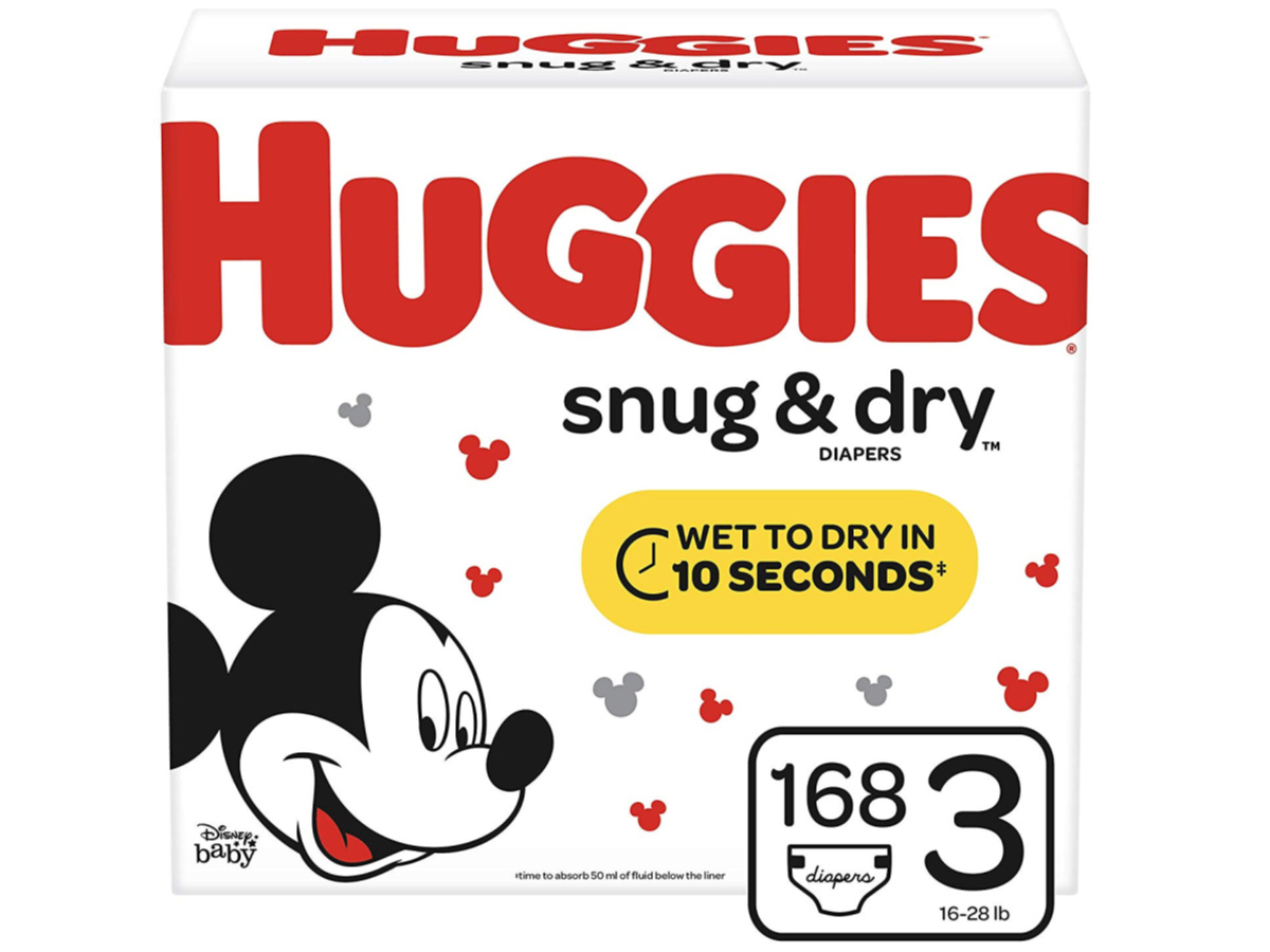 huggies snug & dry diapers size 3 168-count box
