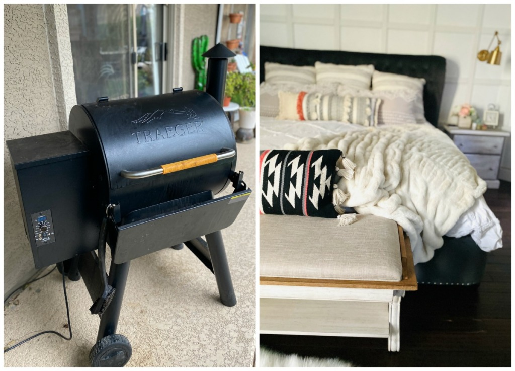 internet auction finds - Traeger and bedframe