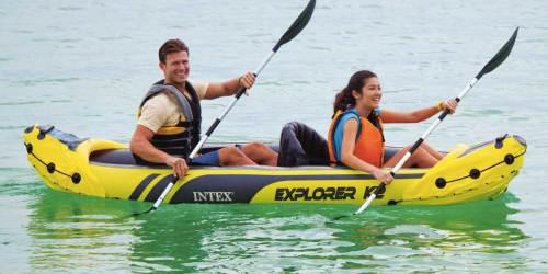 Intex Explorer K2 Kayak w/ Oars & Hand Pump Just $45 Shipped
