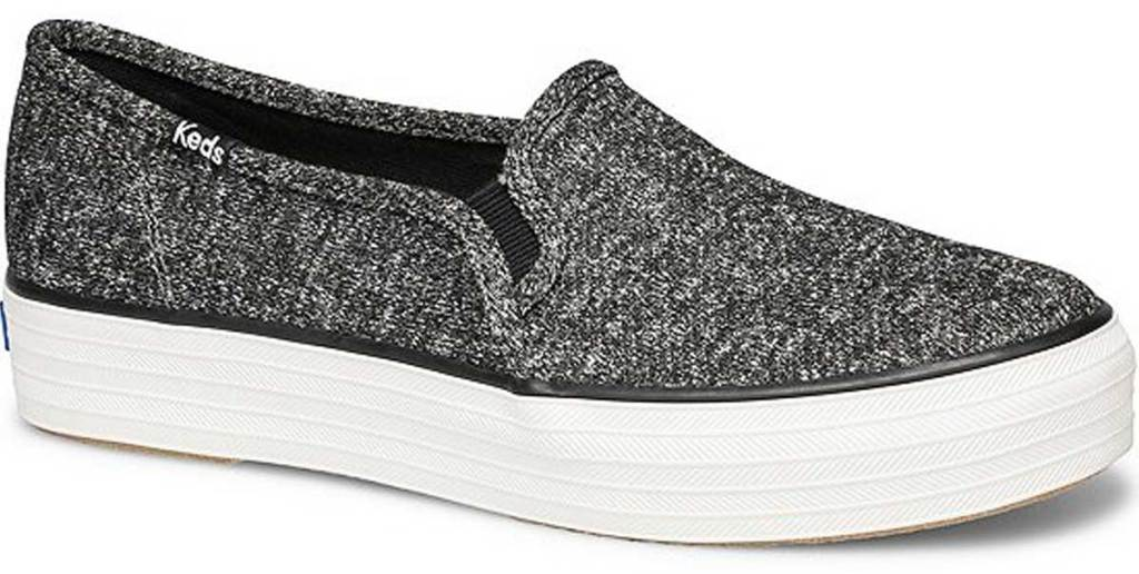 stock image of Keds Triple Decker Women's Sparkle Jersey Shoes