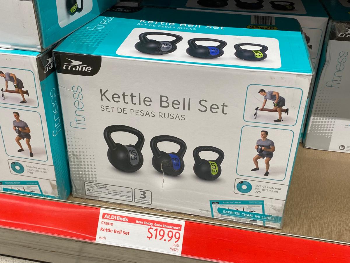 kettle bell set at ALDI