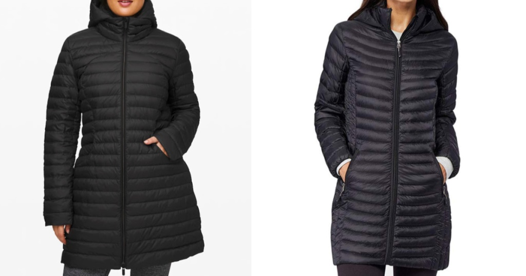 lululemon pack it down jacket compared to amazon down jacket
