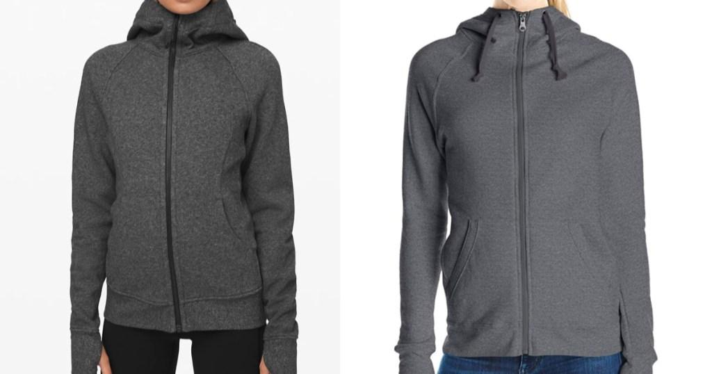 lululemon scuba hoodie compared to champion hoodie
