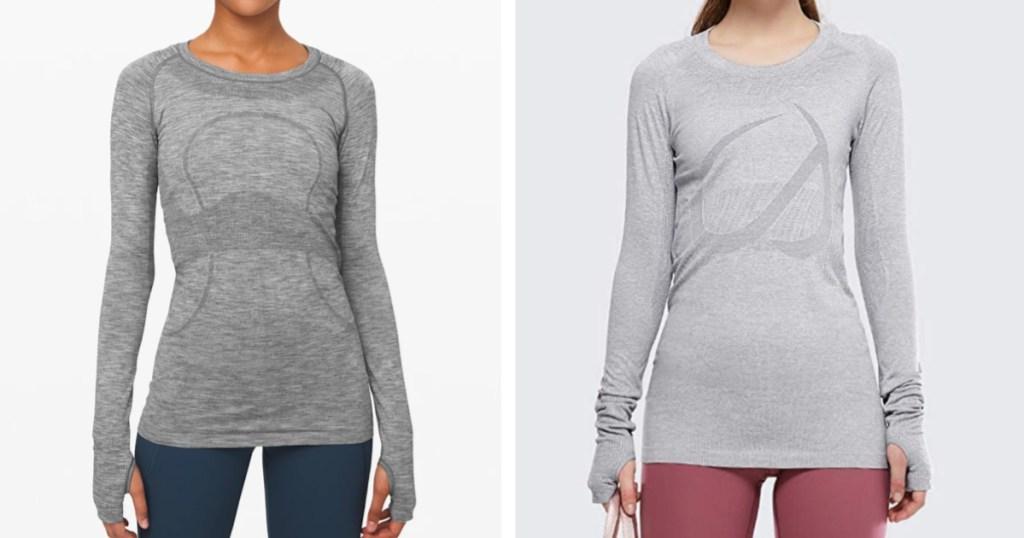 lululemon swiftly long sleeve shirt compared to amazon dupe