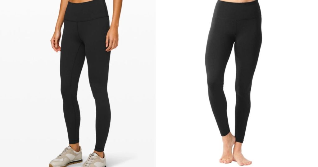 lululemon wunder under leggings compared to amazon reflex by 90 degrees pant