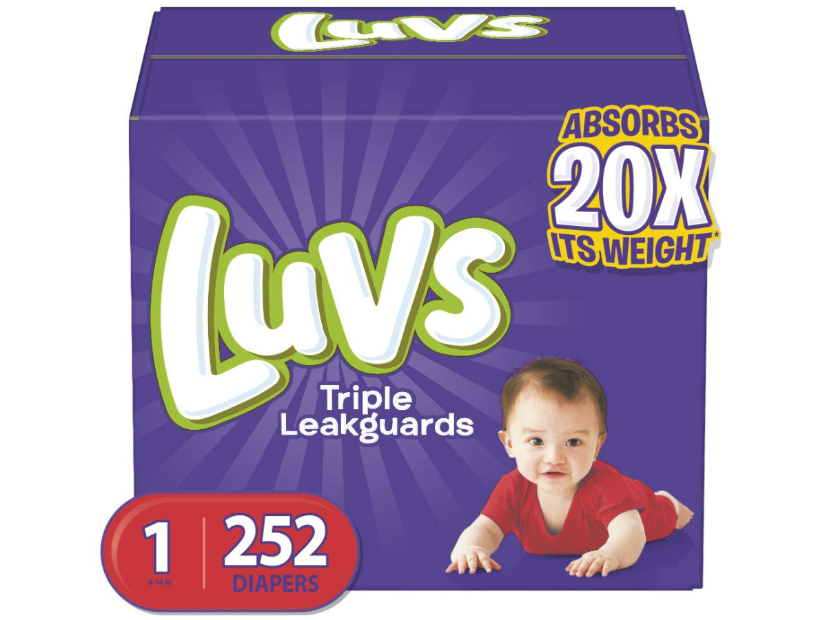 luvs triple leakguard diapers 252 count box