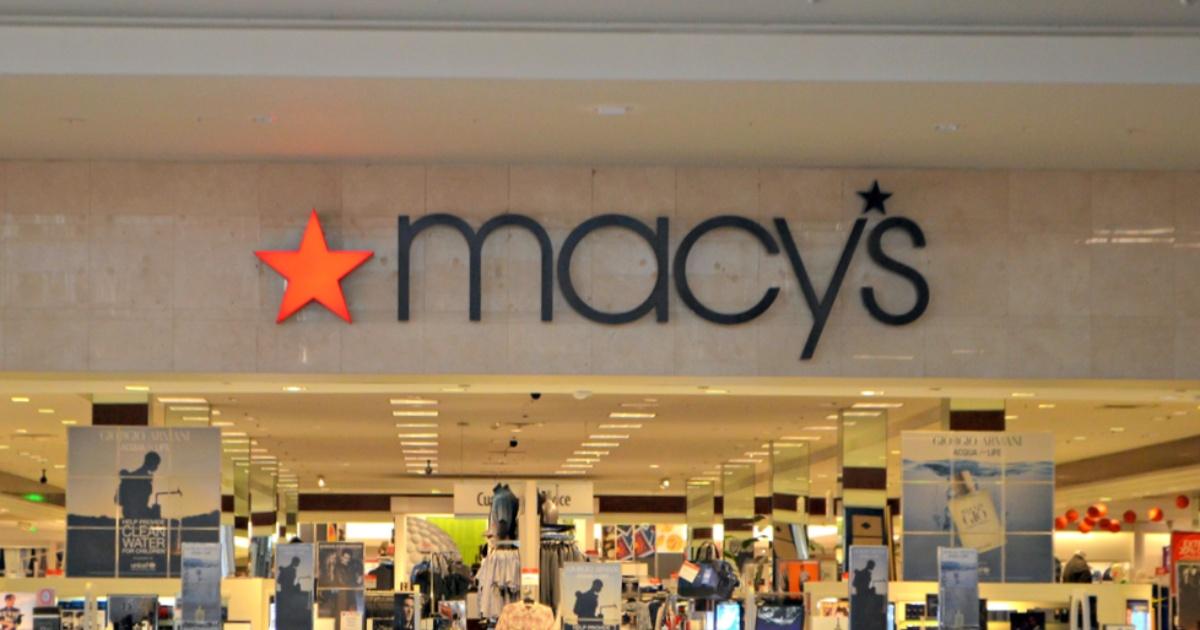 Macy's storefront inside mall