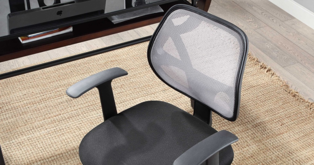 mesh back office chair in office