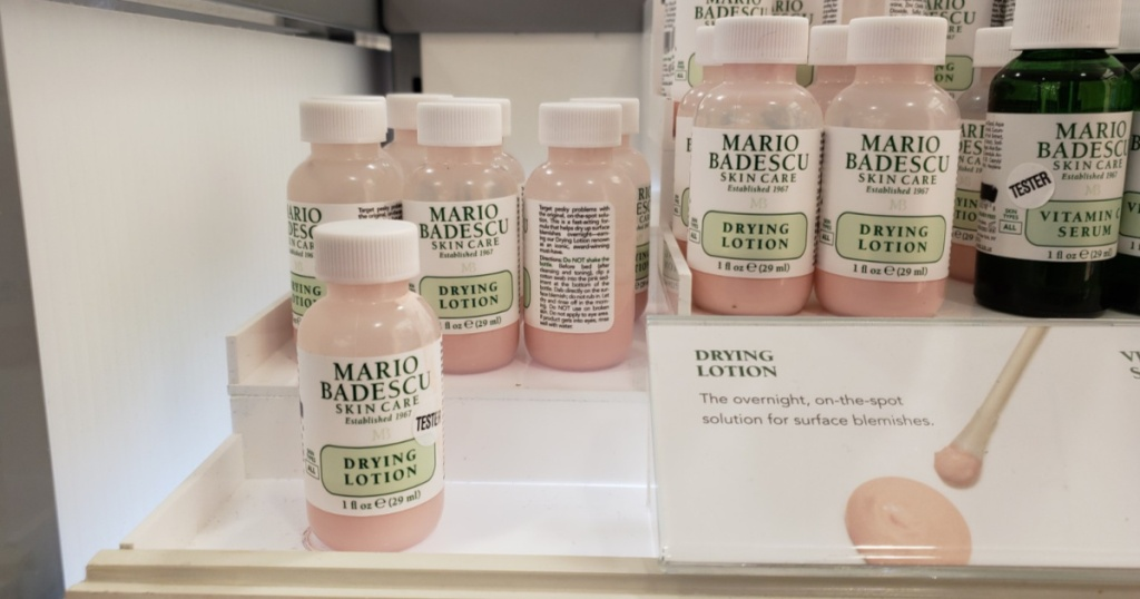 mario badescu skin care drying lotion on display in store