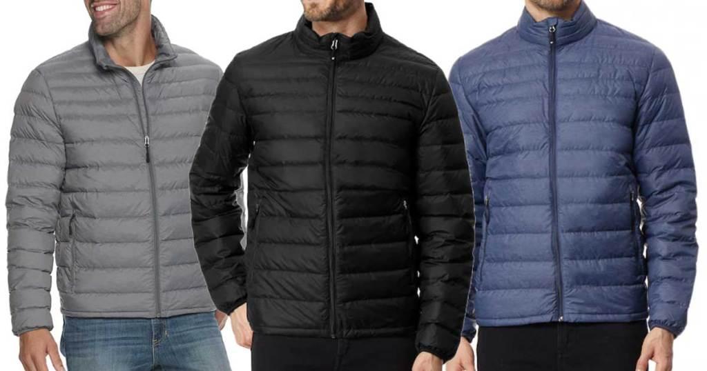 men's nano puffer jackets worn my male models