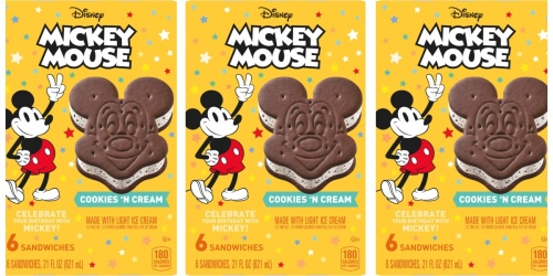 Disney's Mickey Mouse Ice Cream Sandwiches Now Available Outside the Parks