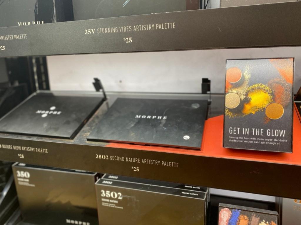 morphe eyeshadow palette in store on display
