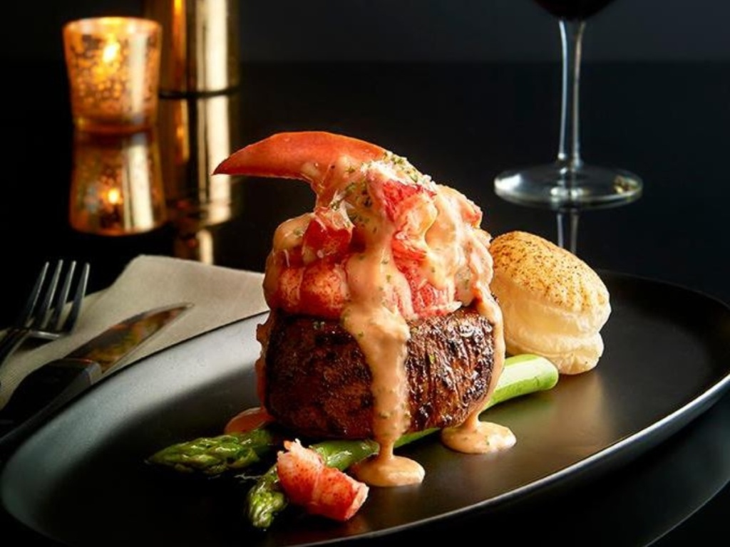 steak and lobster with bearnaise sauce