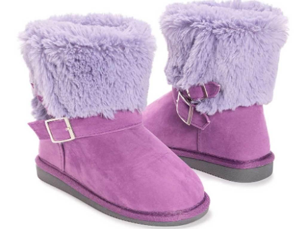 stock image of Muk Luks Light Purple Alyx Boot