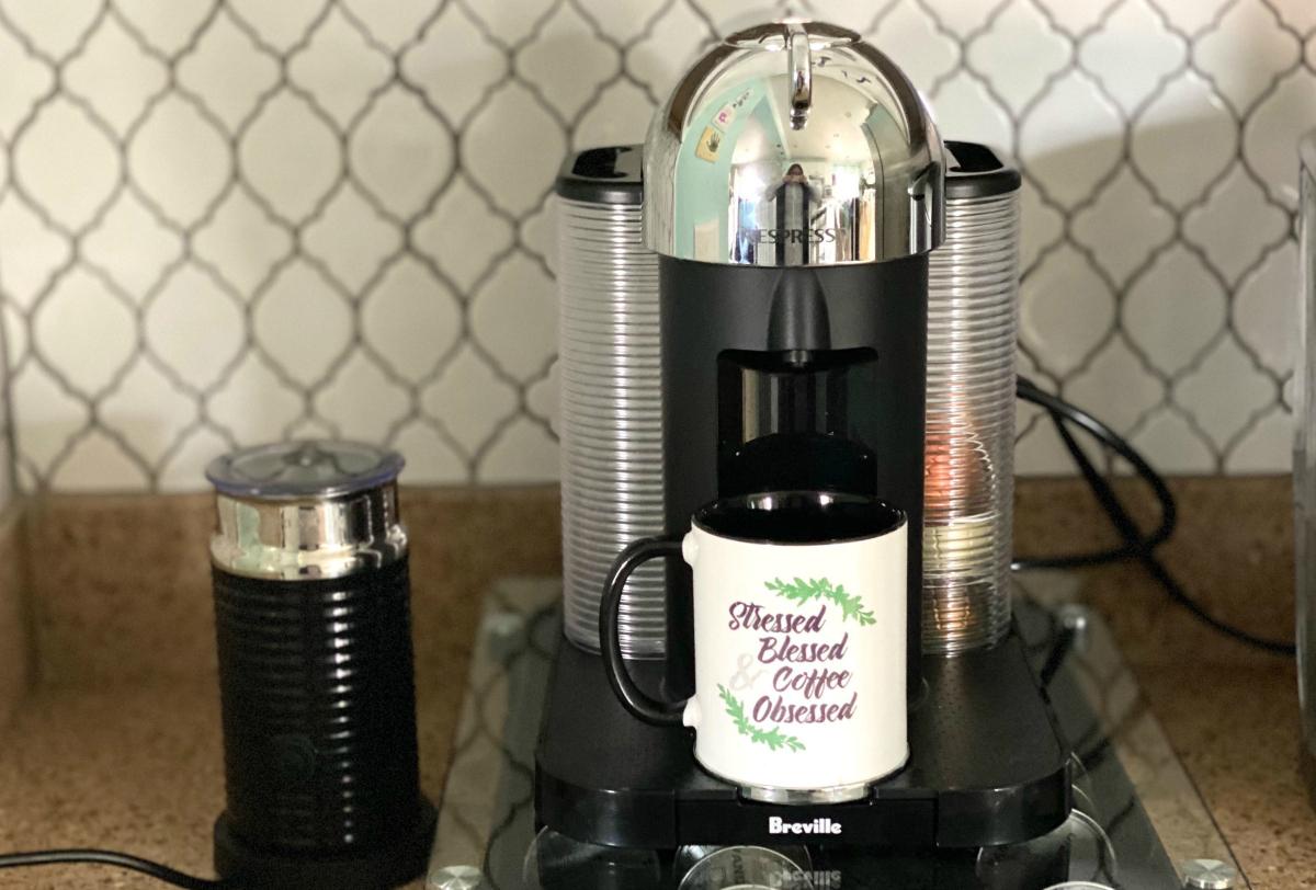 nespresso vertuo on counter
